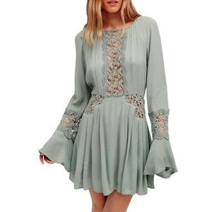 Free People ~ Embroidered Cutwork Dress